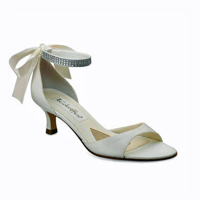 Marvelous Carmen Ivory Low Heel Bridal Shoes