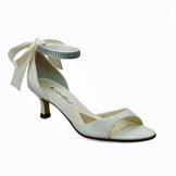 Carmen Ivory Low Heel Evening Shoes