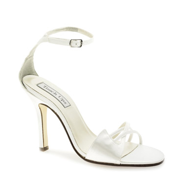 Cassandra Dyeable White Satin Sky High Heel Bridal Shoes