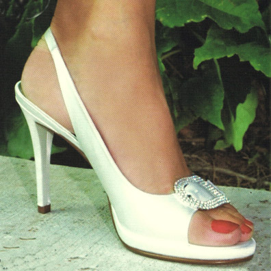 Coco Ivory Silk Bridal Shoes