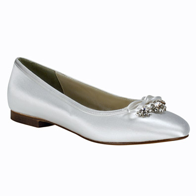 bridal shoes net ellie white satin dyeable wedding flats