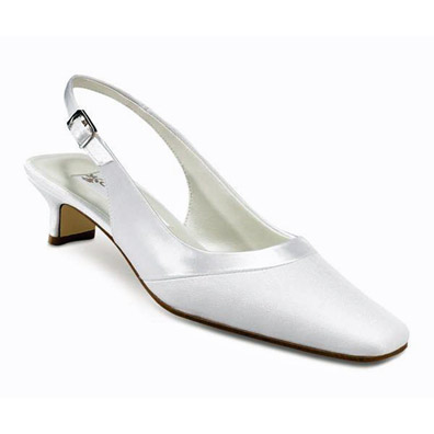Gabriella Dyeable White Low Heel Bridal Shoes