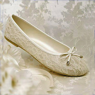 Bridal Shoes.net | Glamour Ballet Ivory Ballet Flats
