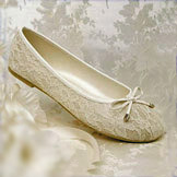 Glamour Ballet Ivory Lace Bridal Shoes