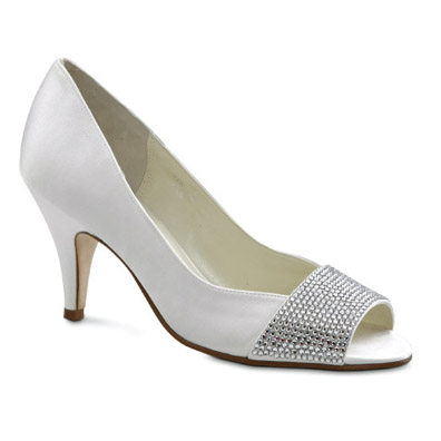 Juliana White Silk High Heel Bridal Shoes
