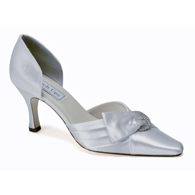 Katrina White Satin High Heel Bridal Shoes