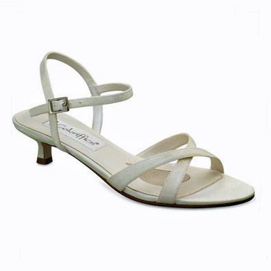 Lindsay Ivory Low Heel Bridal Shoes