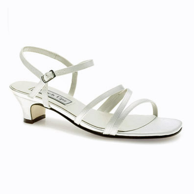 Lynn Dyeable White Low Heel Bridal Shoes