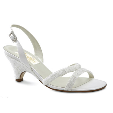 Madeline Dyeable White Silk High Heel Bridal Shoes View Larger Image