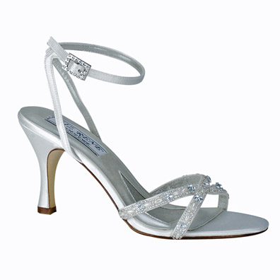 Madelyn Dyeable White Mid Heel Bridal Shoes