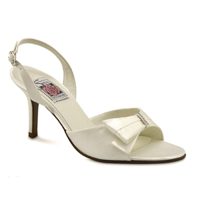 Mischa Ivory Silk High Heel Bridal Shoes