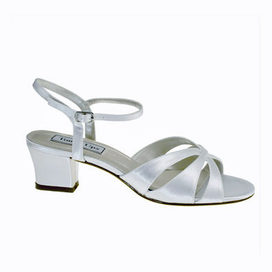 Monaco Dyeable White Low Heel Bridal Shoes