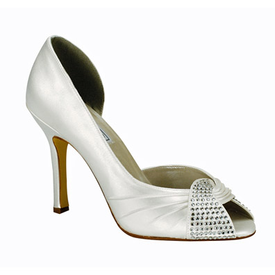 Saskia White Silk Satin Bridal Shoes